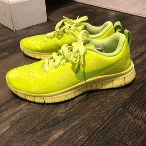 Neon Yellow Nike Sneakers.